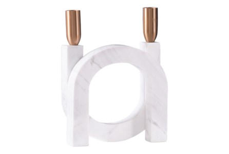 Circular Candle Holder Matte White