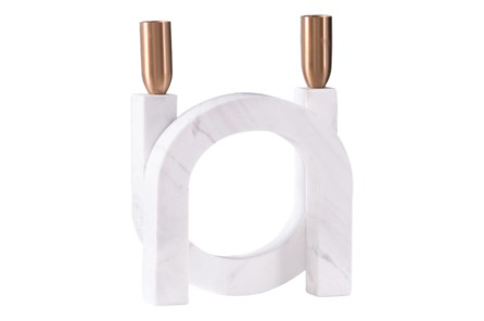 Circular Candle Holder Matte White - Main