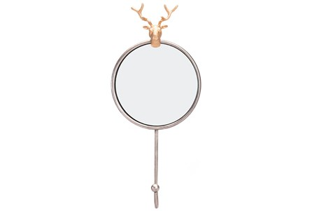 Wall Mirror-Antler Antique