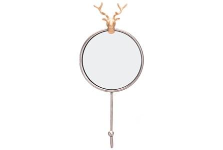 Wall Mirror-Antler Antique
