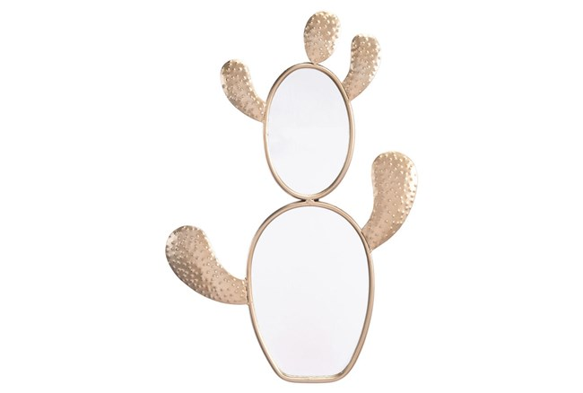 Wall Mirror-Cactus Champagne Gold - 360