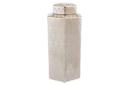 Link Covered Jar Lg Gold And Blue - Main