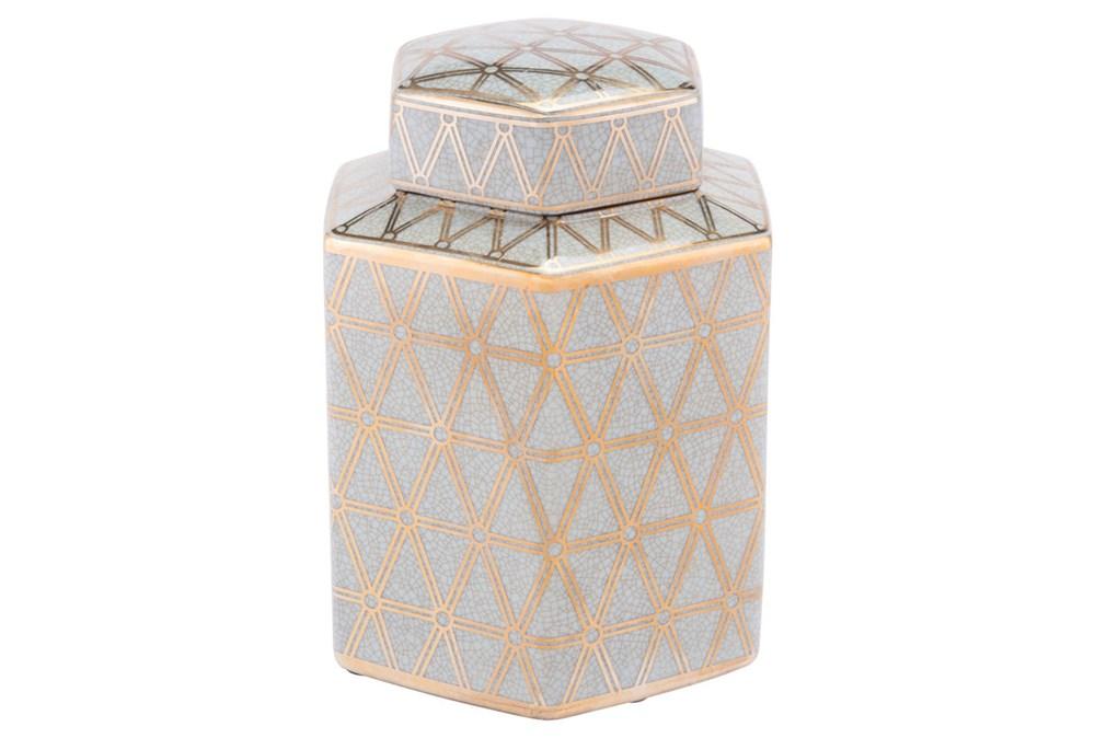 Link Covered Jar Sm Gold And Blue