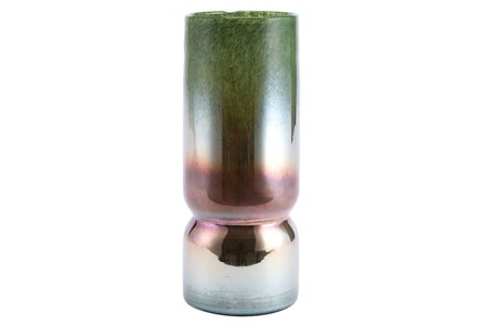 Iridescent Moss Large Vase Green