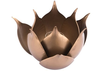 Lotus Candle Holder Gold