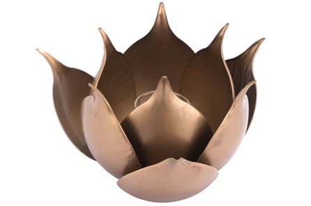 Lotus Candle Holder Gold - Main