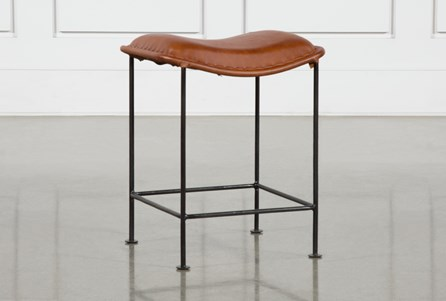 Leather Curve Seat Stool