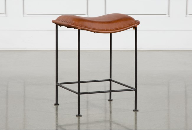 Leather Curve Seat Stool - 360