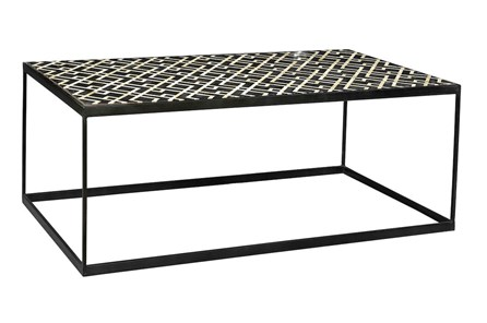Black And White Metal Coffee Table