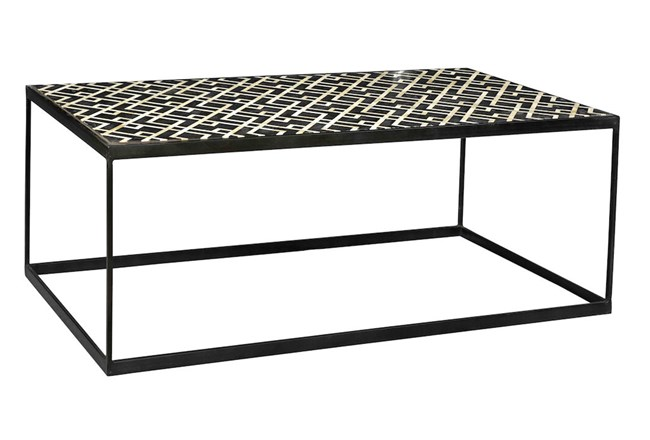 Black And White Metal Coffee Table - 360
