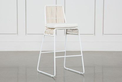 Fine Rattan Counter Stool White Frame Pabps2019 Chair Design Images Pabps2019Com
