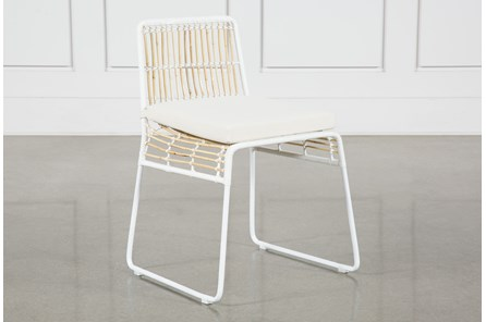 Rattan Dining Chair - White Frame