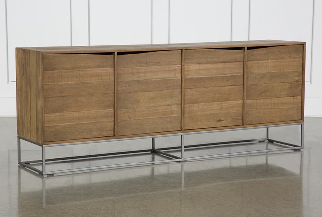 Soft Wood 4 Sideboard On Stand - 360