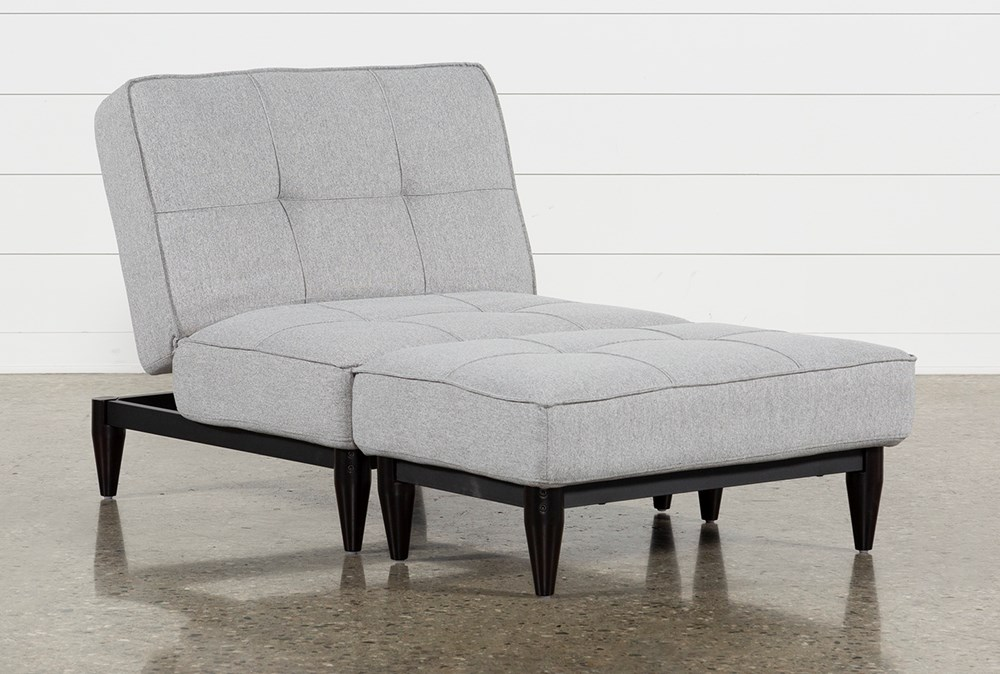 Paige Grey Convertible Chair And Ottoman