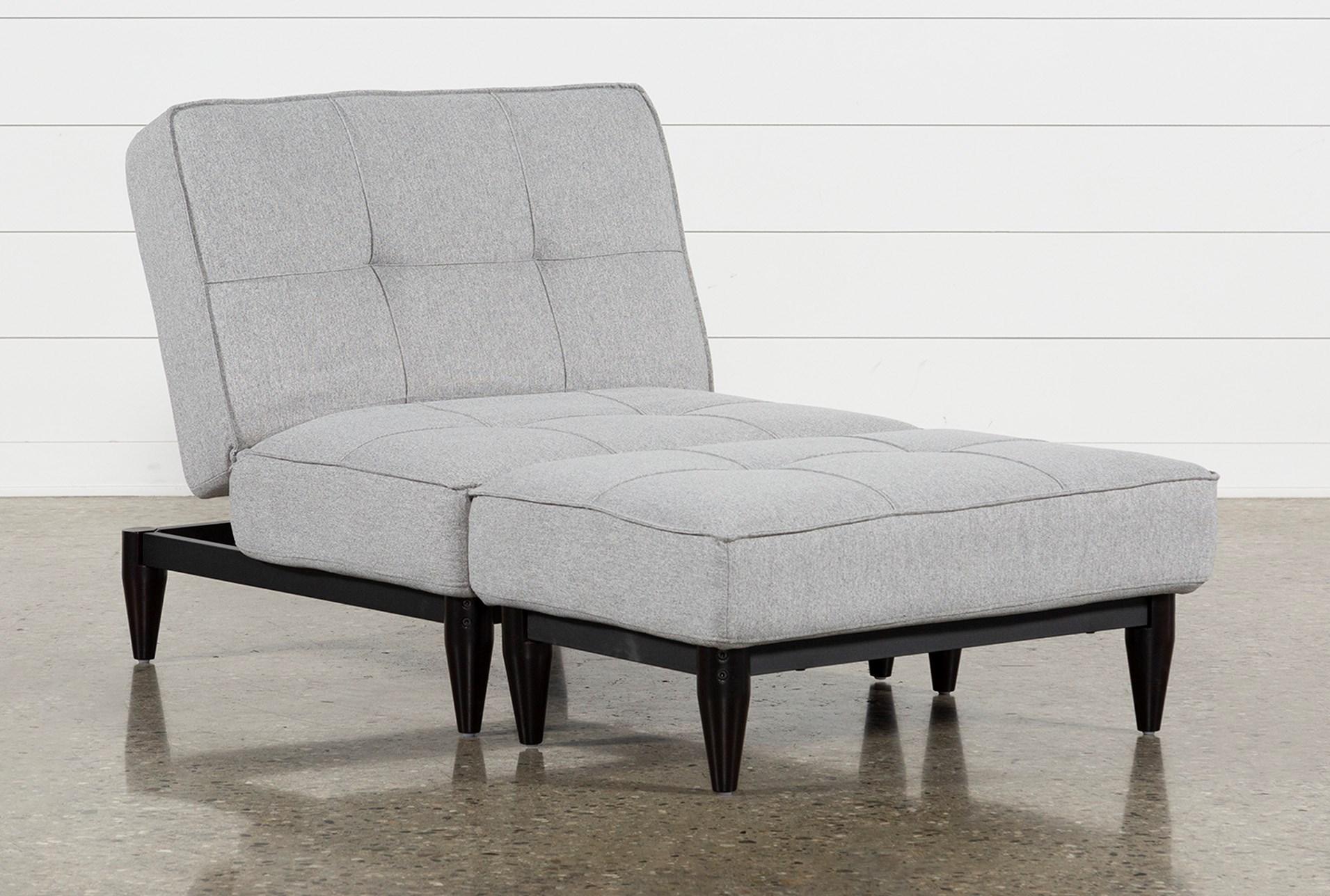 Peachy Paige Grey Convertible Chair And Ottoman Machost Co Dining Chair Design Ideas Machostcouk