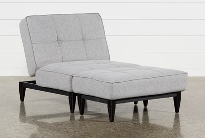 Fabulous Paige Grey Convertible Chair And Ottoman Theyellowbook Wood Chair Design Ideas Theyellowbookinfo