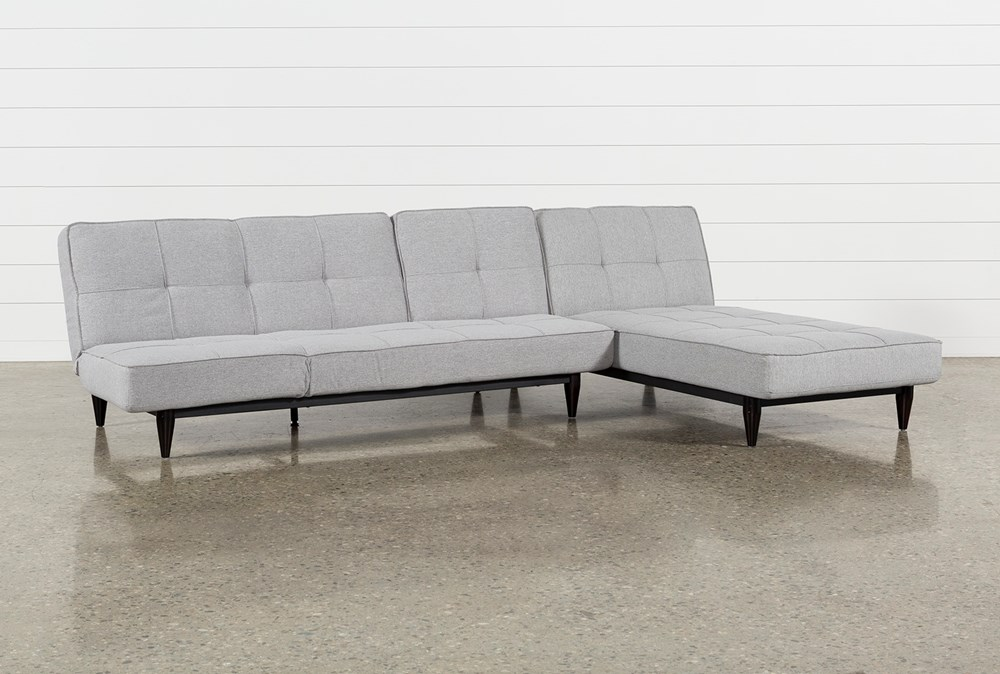 Paige Grey Convertible Sofa And Chaise