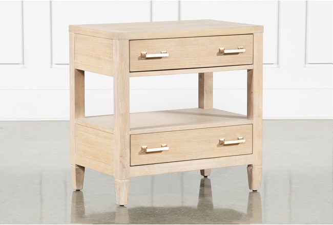 "Gramercy Open 29"" Nightstand With USB By Nate Berkus And Jeremiah Brent - 360"