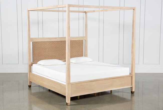Gramercy Eastern King Canopy Bed By Nate Berkus And Jeremiah Brent  - 360