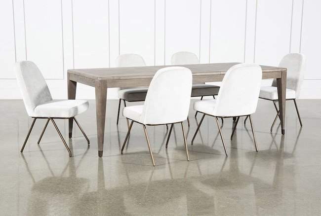 Pavilion 7 Piece  Rectangular Extension Dining Set With Host Chairs By Nate Berkus And Jeremiah Brent - 360