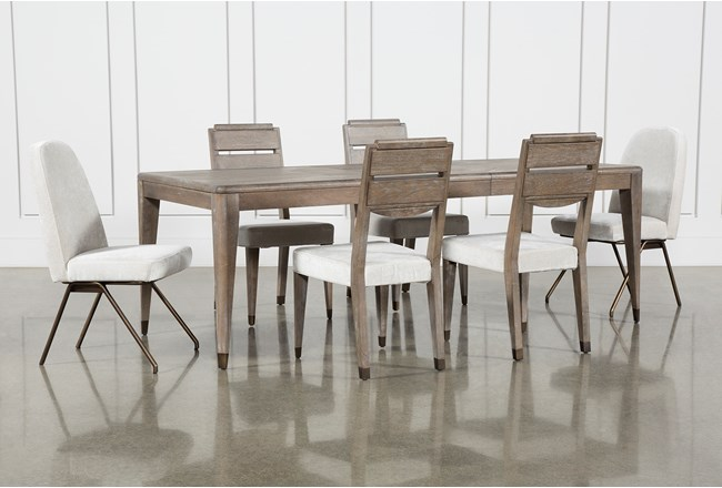 Pavilion 7 Piece  Rectangular Extension Dining Set With Host & Side Chairs By Nate Berkus And Jeremiah Brent - 360