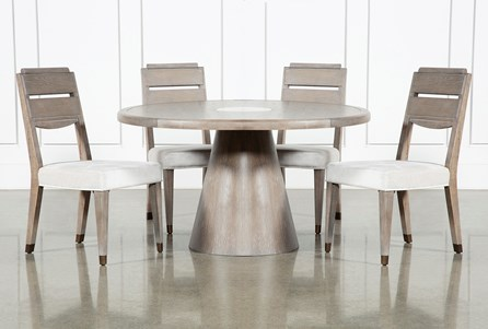 Pavilion 5 Piece Round Dining Set With Side Chairs By Nate Berkus And Jeremiah Brent