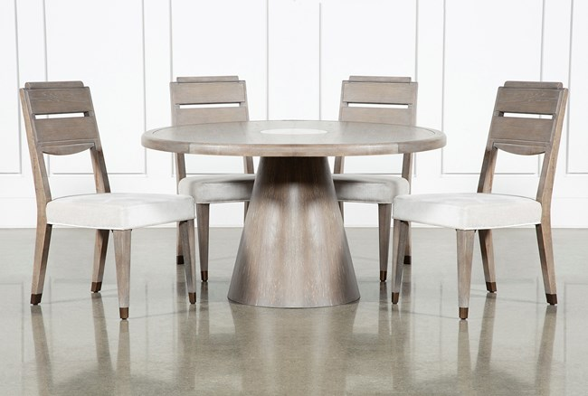 Pavilion 5 Piece Round Dining Set With Side Chairs By Nate Berkus And Jeremiah Brent - 360