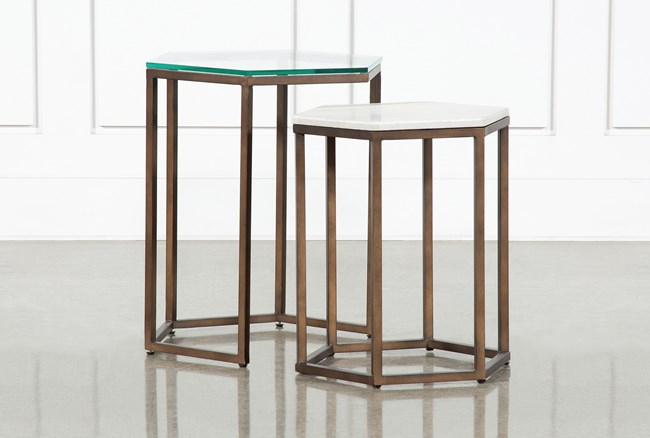 Pavilion Nesting End Tables By Nate Berkus And Jeremiah Brent  - 360