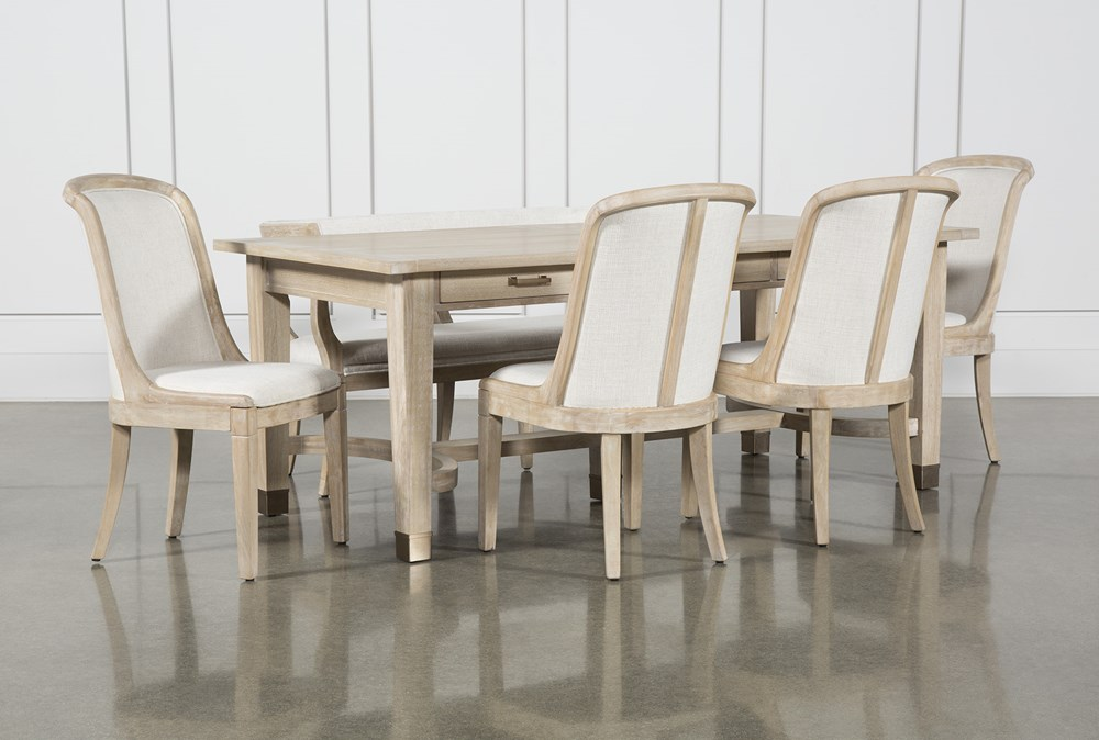Gramercy 6 Piece Rectangle Dining Set With Host Chairs By Nate Berkus And Jeremiah Brent
