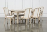 KIT-GRAMERCY 6 PIECE RECTANGLE DINING SET WITH HOST CHAIRS BNJ