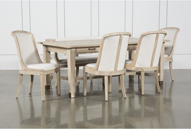 Gramercy 6 Piece Rectangle Dining Set With Host Chairs By Nate Berkus And Jeremiah Brent  - 360