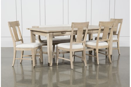 Gramercy 6 Piece Rectangle Dining Set With Side Chairs By Nate Berkus And Jeremiah Brent