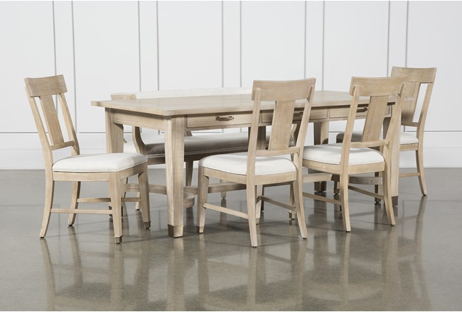 Gramercy 6 Piece Rectangle Dining Set With Side Chairs By Nate Berkus And Jeremiah Brent  - 360