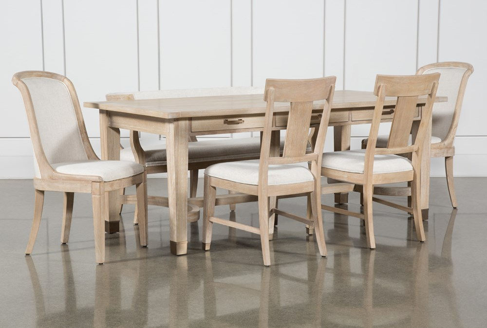 Gramercy 6 Piece Rectangle Dining Set With Host & Side Chairs By Nate Berkus And Jeremiah Brent