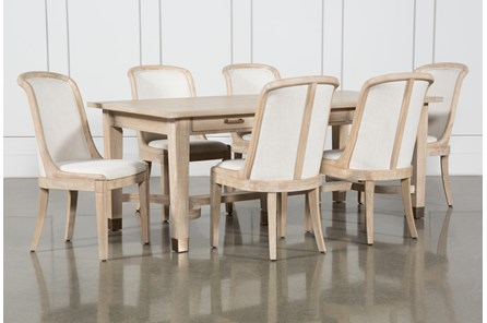 Gramercy 7 Piece Rectangle Dining Set With Host Chairs By Nate Berkus And Jeremiah Brent