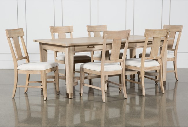 Gramercy 7 Piece Rectangle Dining Set With Side Chairs By Nate Berkus And Jeremiah Brent  - 360
