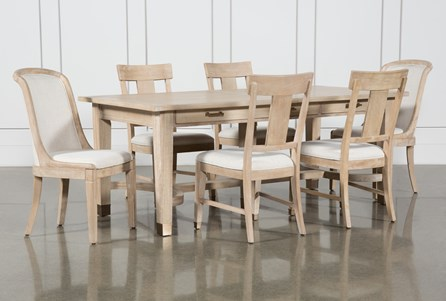 Gramercy 7 Piece Rectangle Dining Set With Host & Side Chairs By Nate Berkus And Jeremiah Brent