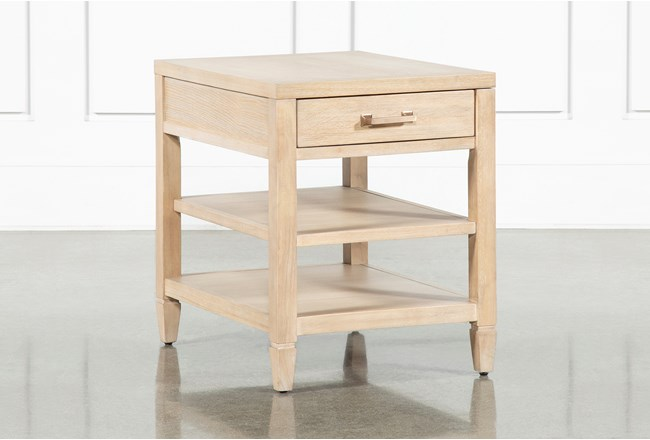 Gramercy Rectangle End Table By Nate Berkus And Jeremiah Brent  - 360