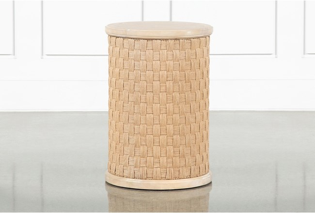 Gramercy Round Accent Table By Nate Berkus And Jeremiah Brent  - 360