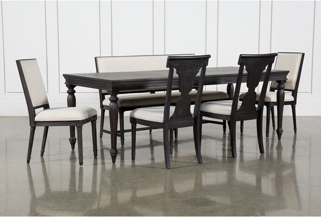 Galerie 6 Piece Rectangular Extending Dining Set With Host & Side Chairs By Nate Berkus And Jeremiah Brent - 360