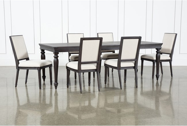 Galerie 7 Piece  Rectangular Ext Dining Set With Host Chairs By Nate Berkus And Jeremiah Brent  - 360