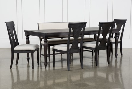 Galerie 6 Piece Rectangular Extending Dining Set With Side Chairs By Nate Berkus And Jeremiah Brent - Main
