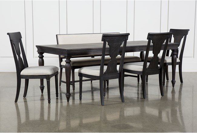 Galerie 6 Piece Rectangular Extending Dining Set With Side Chairs By Nate Berkus And Jeremiah Brent - 360