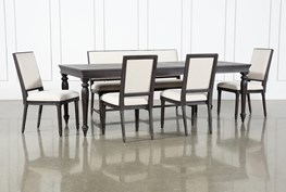 Galerie 6 Piece  Rectangular Ext Dining Set With Host Chairs By Nate Berkus And Jeremiah Brent