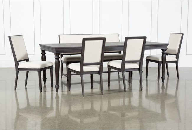 Galerie 6 Piece  Rectangular Ext Dining Set With Host Chairs By Nate Berkus And Jeremiah Brent  - 360