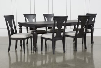 Galerie 7 Piece  Rectangular Ext Dining Set With Side Chairs By Nate Berkus And Jeremiah Brent