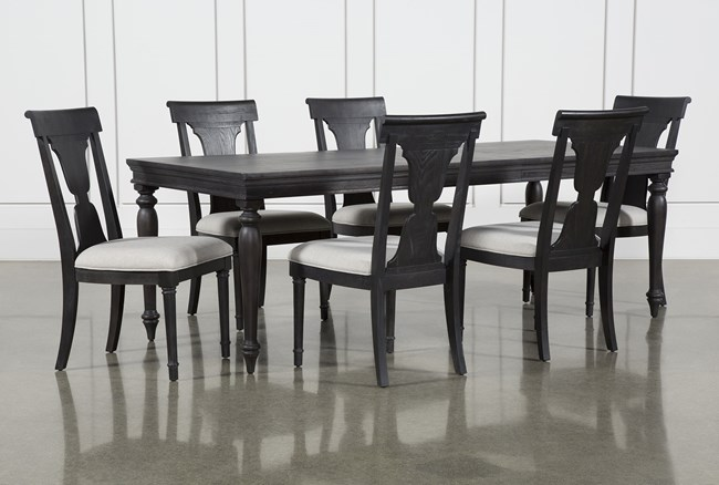 Galerie 7 Piece  Rectangular Ext Dining Set With Side Chairs By Nate Berkus And Jeremiah Brent  - 360