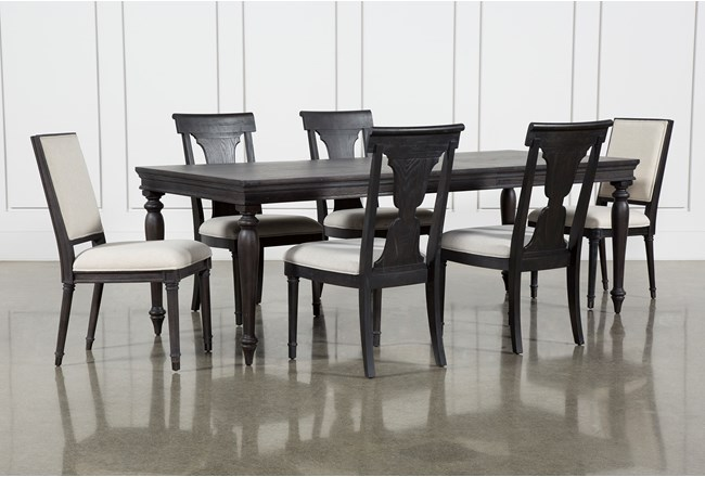 Galerie 7 Piece Rectangular Extending Dining Set With Host & Side Chairs By Nate Berkus And Jeremiah Brent - 360
