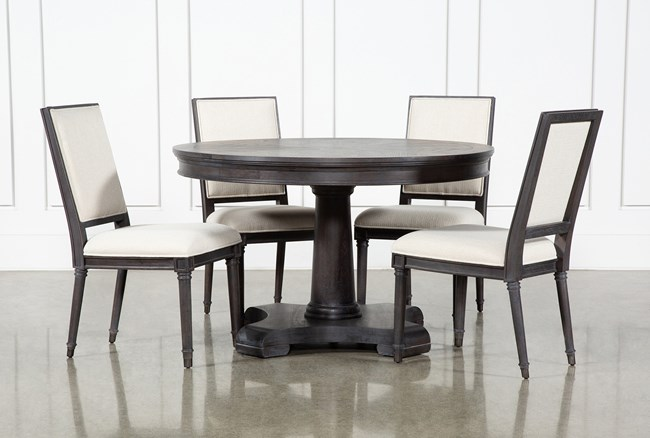 Galerie 5 Piece Round Dining Set With Host Chairs By Nate Berkus And Jeremiah Brent  - 360
