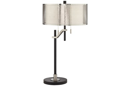 Table Lamp-Mesh Silver Shade